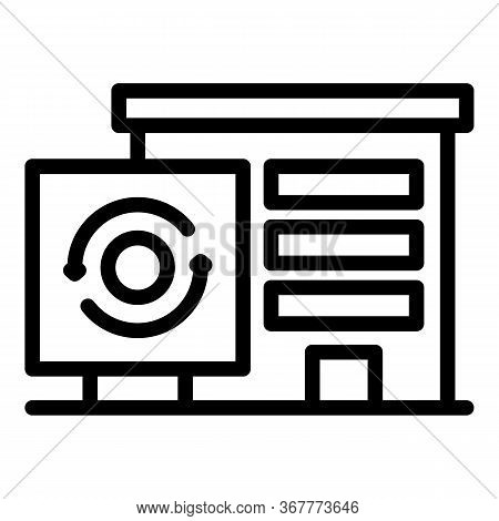 Garbage Processing Plant Icon. Outline Garbage Processing Plant Vector Icon For Web Design Isolated