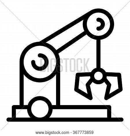 Crane Arm Icon. Outline Crane Arm Vector Icon For Web Design Isolated On White Background