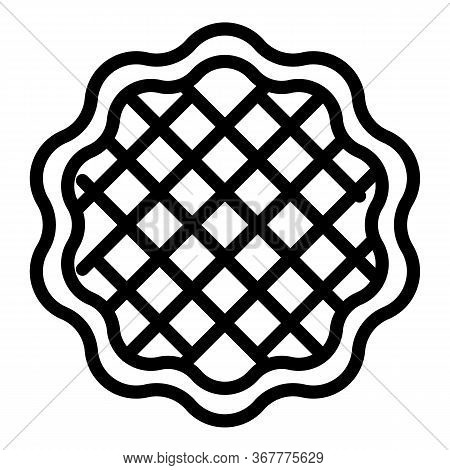 Wafer Layer Icon. Outline Wafer Layer Vector Icon For Web Design Isolated On White Background