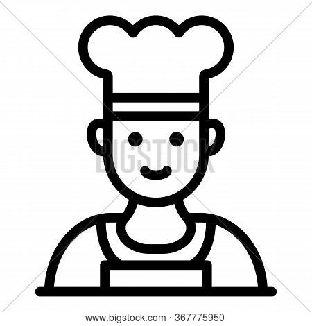 Chef In A Hat Icon. Outline Chef In A Hat Vector Icon For Web Design Isolated On White Background