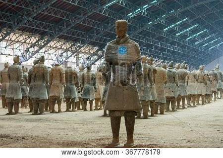 Terracotta Army, Excavated Terracotta Sculptures Depicting The Armies Of The First Emperor Of Unifie