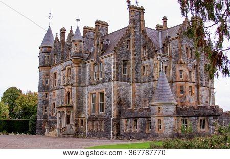 Blarney, Ireland - February 10, 2019: Illustrative Editorial - Blarney Castle Tourist Attraction In