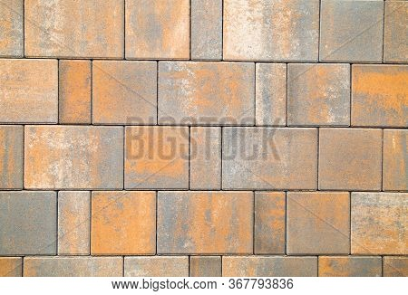 Sidewalk Tile Color Coyote Rectangular Shape. Construction, Backgrounds, Interior.