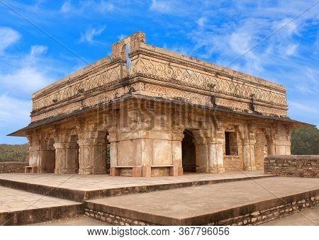 Exterior Of Ruined Karan Mahal Palace At Gwalior Fort In Madhya Pradesh State, India