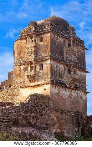 Ruins Of Gora Badal Palace At Chittorgarh Fort In Chittaurgarh, Rajasthan State Of India. Gora And B