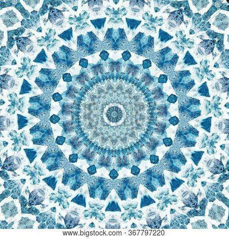 Decorative Ceramic Tiles Patterns Texture Background. Turkish Ornament.