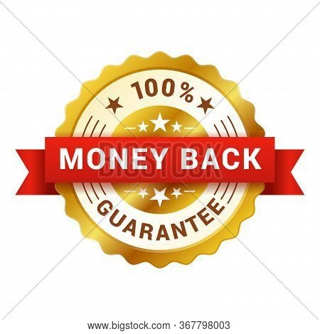 Money Back Badge, Customer Satisfaction Guarantee Emblem