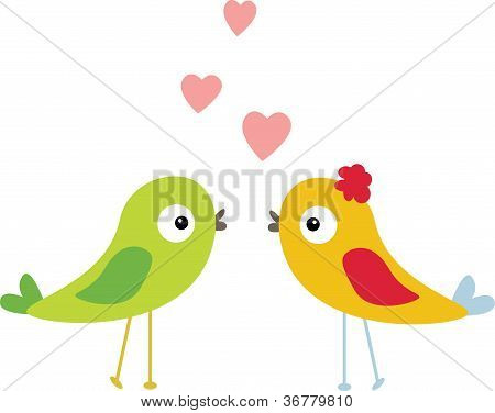cute bird with love
