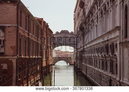 The Enclosed Bridge Of Sighs Over Rio Di Palazzo Which Connects The New Prison And The Dodge's Palac