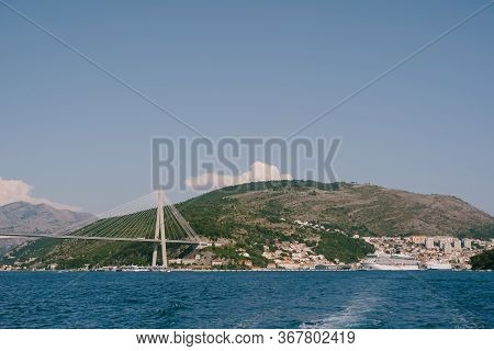 Franjo Tudjman Cable-stayed Bridge Carrying The D8 State Road On The Western Approach To Dubrovnik,