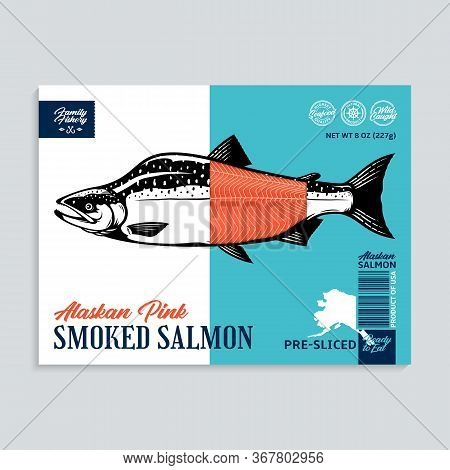 Vector Smocked Pink Salmon Package Design