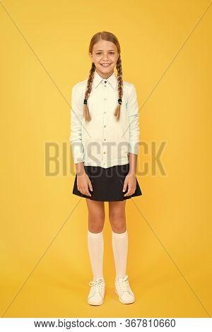 School Curriculum. Happy Girl In School Uniform. Back To School. Kid Fashion. School Market. Educati
