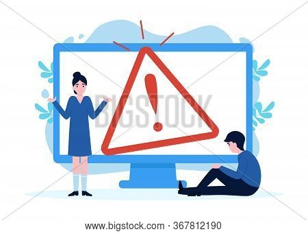 Flat Concept 404 Error Page For Web Page, Banners, Template. Website Maintenance Error, Webpage Unde