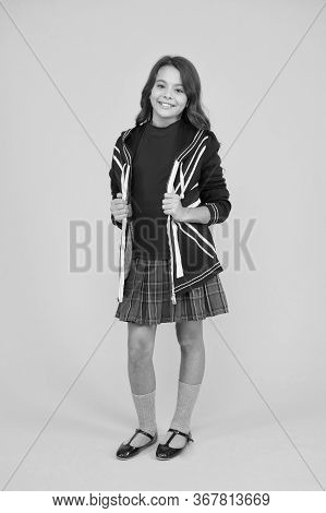 Learn English Language. British Accent. Great Britain Flag. Small Girl School Uniform. English Stude