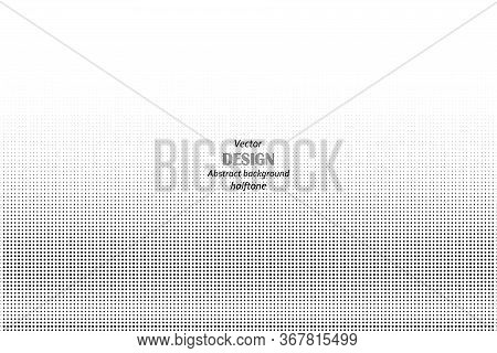 Abstract Halftone. Black Dots On White Background. Halftone Background. Vector Halftone Dots.