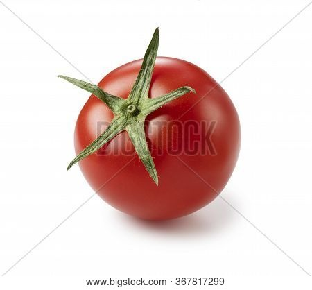 Tomatoes Placed On A White Background
