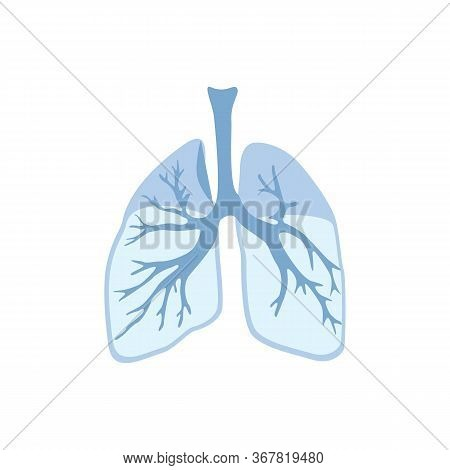 Lungs Icon, Isolated On White Background. Internal Organs Of Human Design Element. Anatomy, Part Of