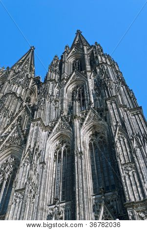 Cologne Cathedral (German: Koelner Dom officially Hohe Domkirche St. Peter und Maria English: High Cathedral of Sts. Peter and Mary) a Roman Catholic church in Cologne Germany. poster