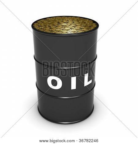 oil barrel coins