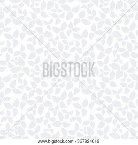 Grey Leaf Allover White Background Design, For Wallpaper, Fabric, Bookscraping.