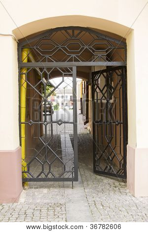Iron Gate Into The Courtyard (city Court)