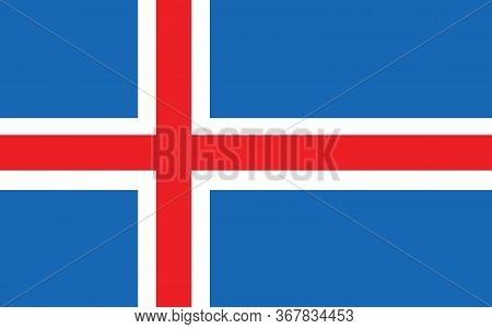 Iceland Flag Vector Graphic. Rectangle Icelander Flag Illustration. Iceland Country Flag Is A Symbol