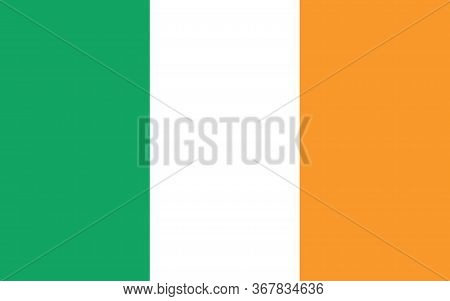 Ireland Flag Vector Graphic. Rectangle Irish Flag Illustration. Ireland Country Flag Is A Symbol Of