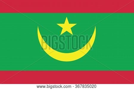Mauritania Flag Vector Graphic. Rectangle Mauritanian Flag Illustration. Mauritania Country Flag Is