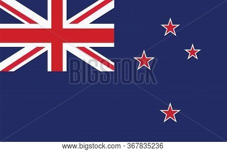 New Zealand Flag Vector Graphic. Rectangle New Zealander Flag Illustration. New Zealand Country Flag