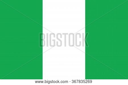 Nigeria Flag Vector Graphic. Rectangle Nigerian Flag Illustration. Nigeria Country Flag Is A Symbol
