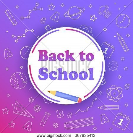 Back to school with school items and elements. vector banner design. Back to school banner, vector banner set of schoolbags, back to school concept Back to school sale banner. Back to school words banner on lined notebook paper and flat vector pencil on b