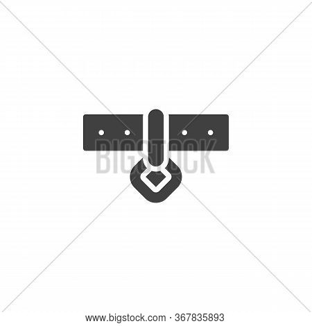Pet Dog Collar Vector Icon. Filled Flat Sign For Mobile Concept And Web Design. Dog-collar Glyph Ico