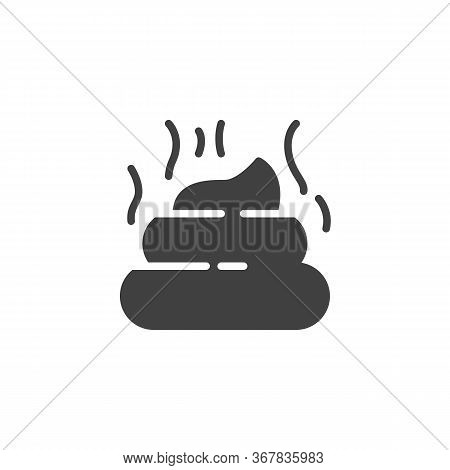 Pet Poo Vector Icon. Filled Flat Sign For Mobile Concept And Web Design. Stinky Poo Glyph Icon. Symb