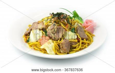 Yakisoba Noodles Stir Fried With Pork