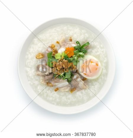 Rice Porridge With Pork Cartilage Or Soft Spareribs Pork