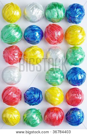 Colorful Plastic Rope Ball