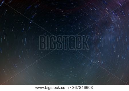 Beautiful Night Sky With Lot Of Shiny Stars, Natural Astro Background