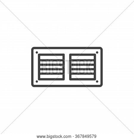 Exhaust Air Ventilation Line Icon. Linear Style Sign For Mobile Concept And Web Design. Fan Exhaust