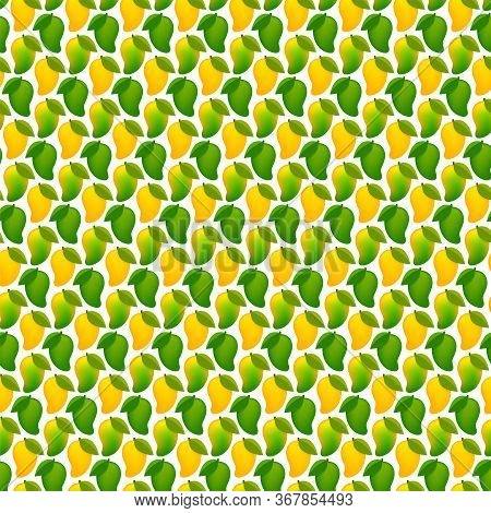 Mango Ripe And Raw Mango For Background, Mango Pattern Yellow Green For Wallpaper
