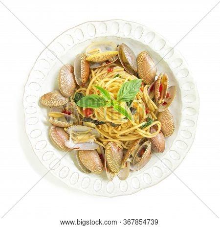 Spaghetti Stir Fried With Clam Chili Thai Spicy Fusion Food