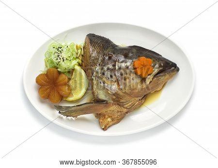 Salmon Kabutoni In Soy Sauce Soup