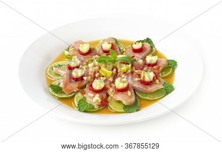 Salmon Spicy In Fish Sauce