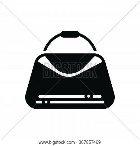 Black Solid Icon For Handbags  Bag Purse  Woman-purse  Fashion Accessory