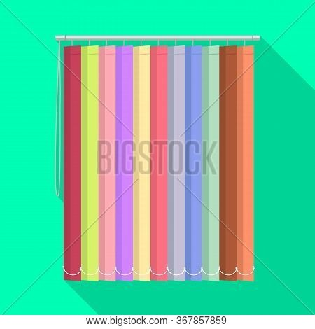 Isolated Object Of Blinds And Wooden Symbol. Graphic Of Blinds And Casement Stock Vector Illustratio