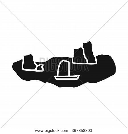 Isolated Object Of Rock And Bay Symbol. Collection Of Rock And Vietnamese Vector Icon For Stock.