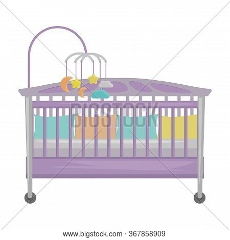 Crib Vector Icon.cartoon Vector Icon Isolated On White Background Crib.