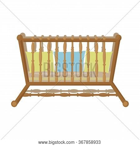 Cot Vector Icon.cartoon Vector Icon Isolated On White Background Cot.