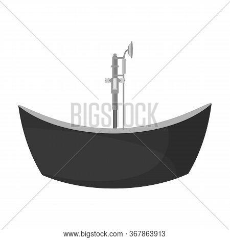 Bath Tub Vector Icon.cartoon Vector Icon Isolated On White Background Bath Tub.