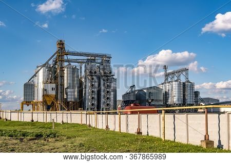 Granary Elevator On Agro-processing And Manufacturing Plant For Processing And Silver Silos For Dryi