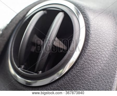 Automobile Modern Deflector From Which Blows With Fresh Air And Heat. Bad Odor Problem From The Defl